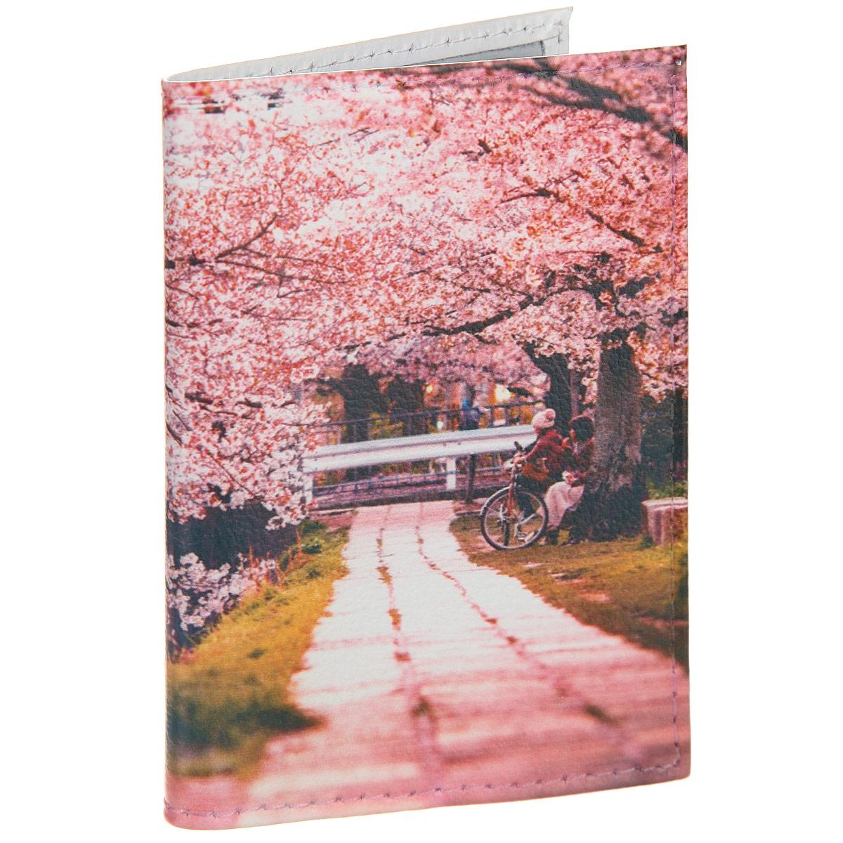 Визитница Цветущая аллея. VIZIT305 обложка для паспорта mitya veselkov цветущая аллея