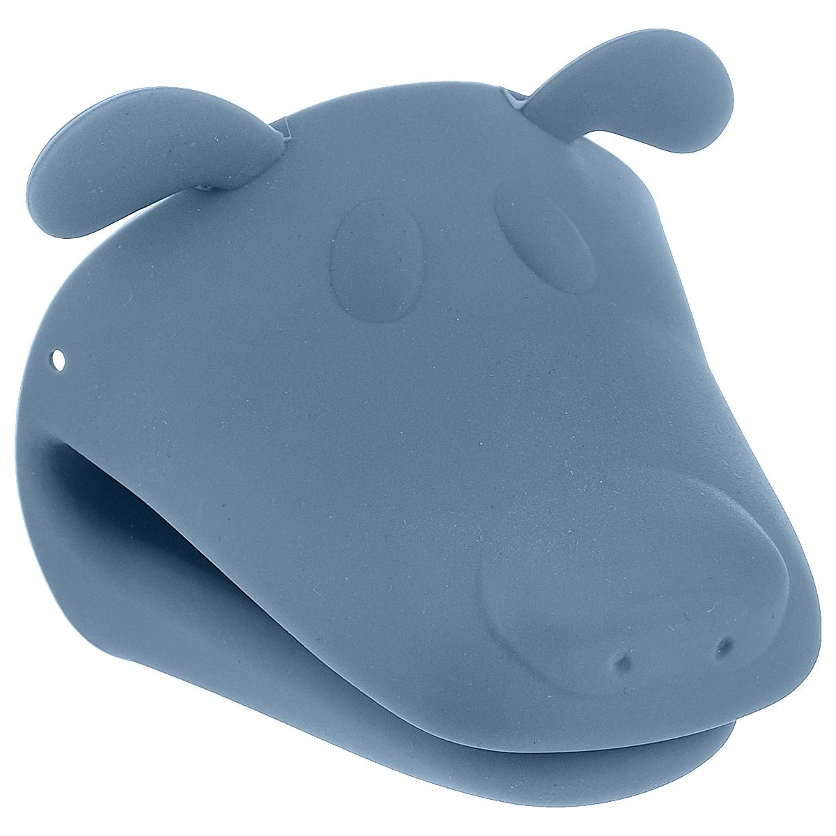 Прихватка Marmiton Собака, силиконовая, цвет: серо-голубой16076_серо-голубойСиликоновая прихватка Marmiton Собака позволяет защитить пальцы от нежелательного воздействия высоких температур. Ребристая поверхность предотвращает скольжение. С помощью такой рукавицы ваши руки будут защищены от ожогов, когда вы будете ставить в печь или доставать из нее выпечку.В комплекте буклет с рецептами.