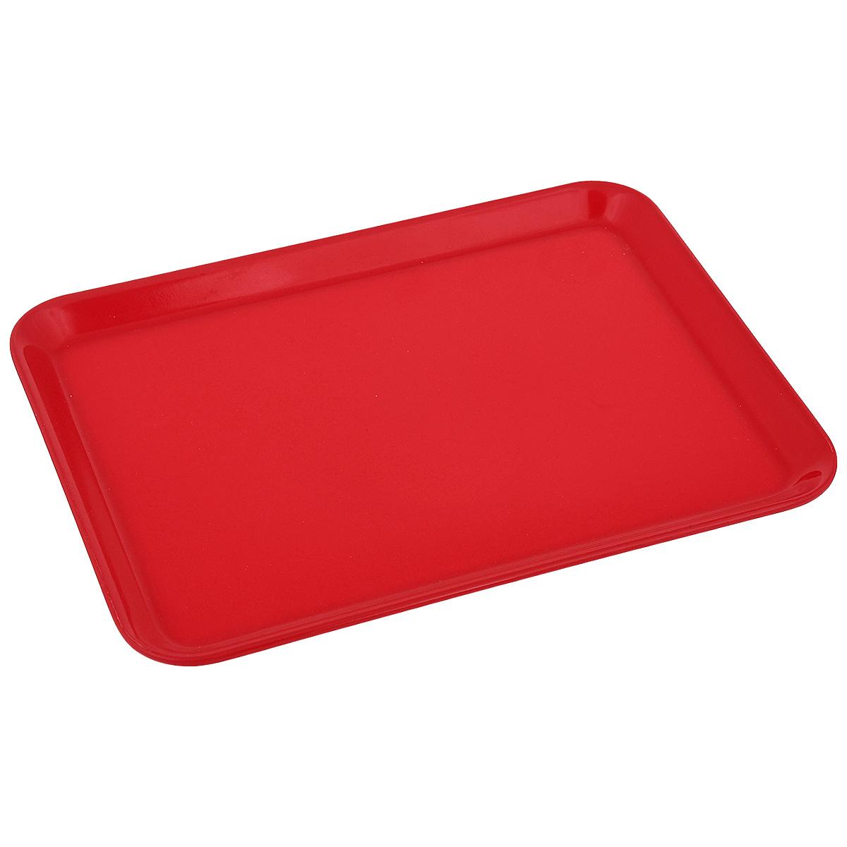 Поднос Zeller, цвет: красный, 24 см х 18 см26692Оригинальный поднос Zeller, изготовленный из пластика, станет незаменимым предметом длясервировки стола. Поднос не только дополнит интерьер вашей кухни, но и предохранитповерхность стола от грязи и перегрева.Яркий и стильный поднос Zeller придется по вкусу и ценителям классики, и тем, ктопредпочитает современный стиль.