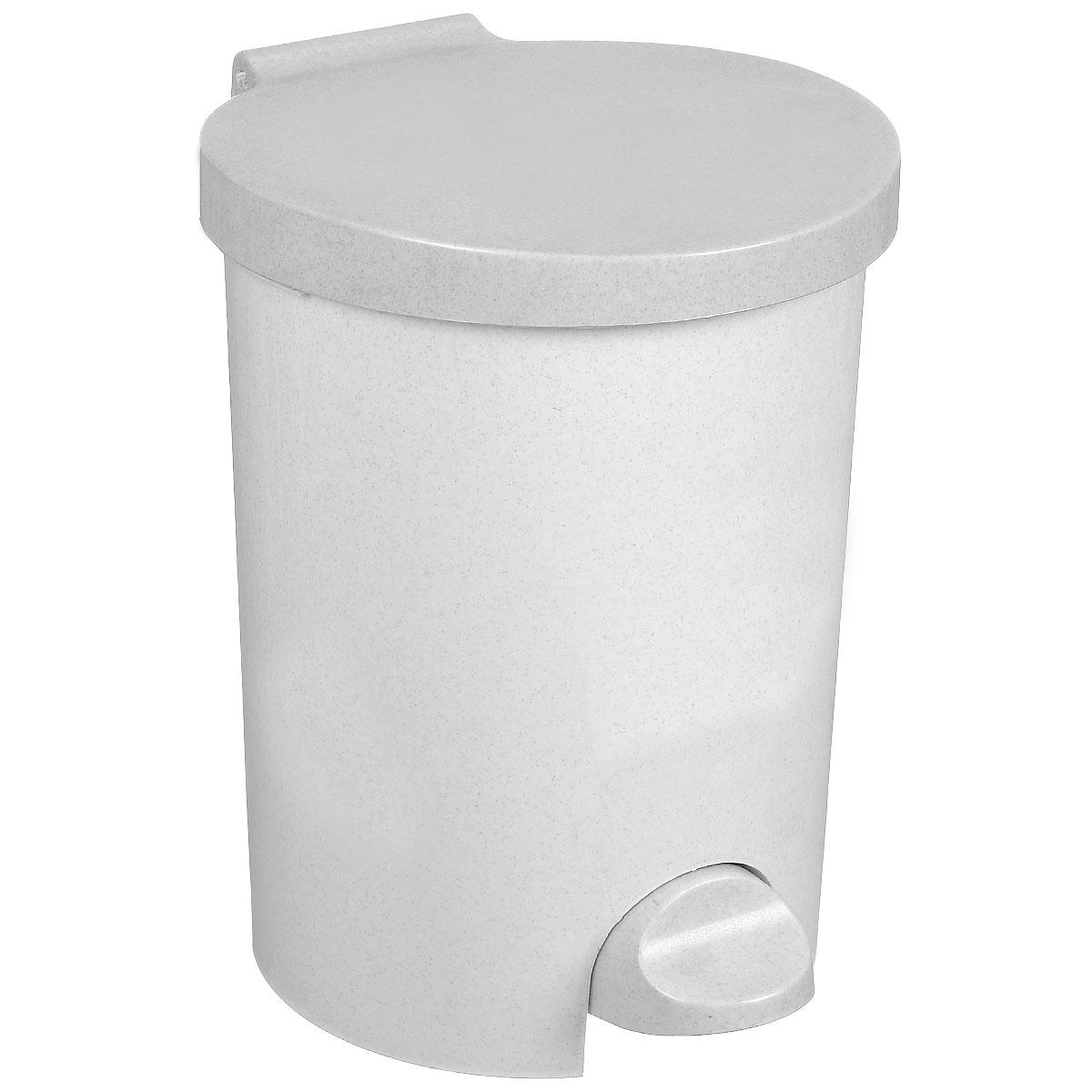 Контейнер для мусора Curver, с педалью, цвет: серый люкс (гранит), 15 л4011_серый люкс / гранитКонтейнер для мусора Curver изготовлен из высококачественного пластика. Контейнер оснащен педалью, с помощью которой можно открыть крышку. Закрывается крышка бесшумно, плотно прилегает, предотвращая распространение запаха. Бороться с мелким мусором станет легко. Внутри ведро с ручкой, которое при необходимости можно достать из контейнера. Благодаря лаконичному дизайну такой контейнер идеально впишется в интерьер и дома, и офиса.