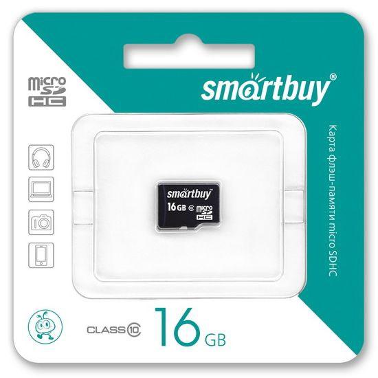 SmartBuy microSDHC Сlass 10 16GB карта памяти (без адаптера)
