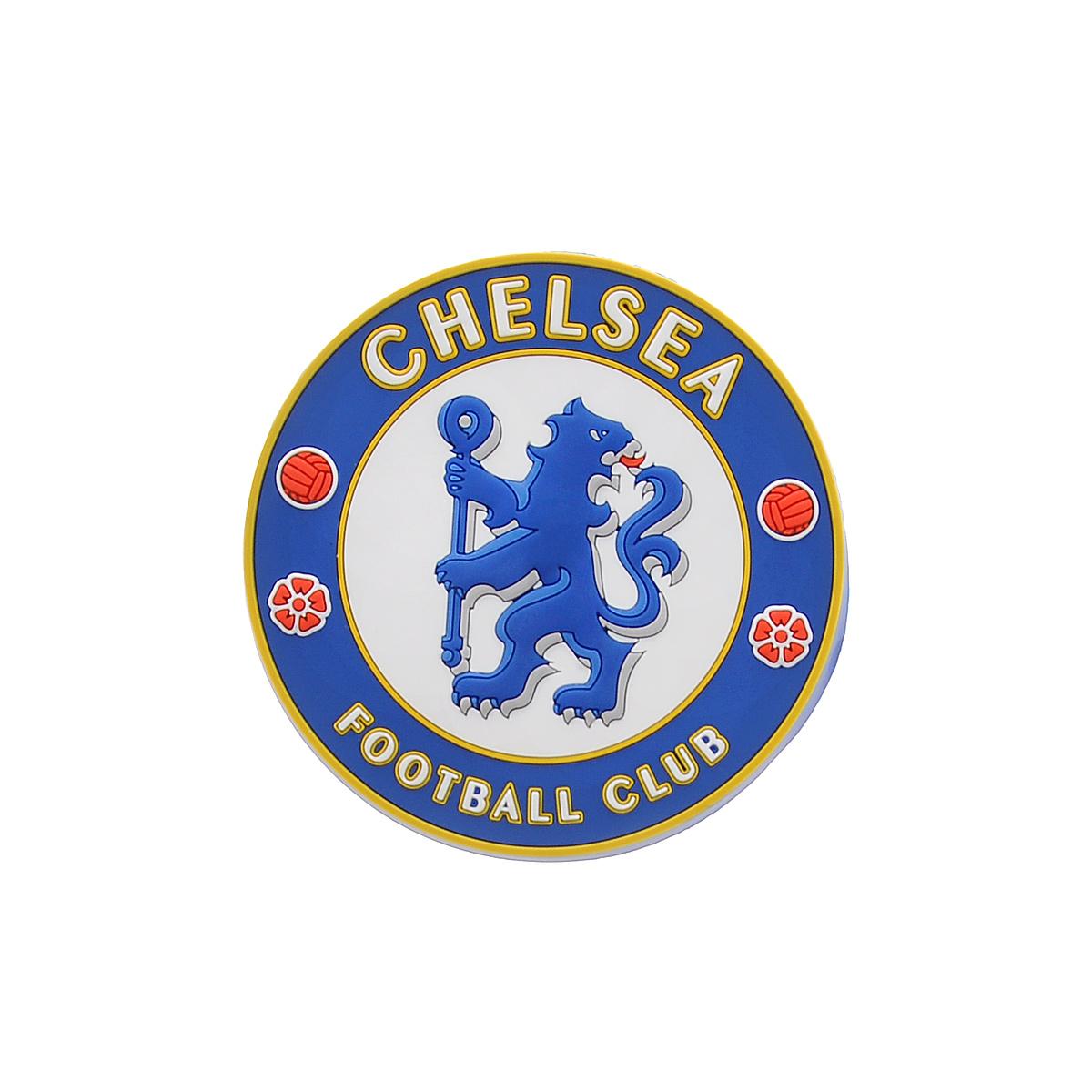 """Магнит """"Chelsea"""", цвет: синий, белый, красный, диаметр 7,7 см. 08300"""