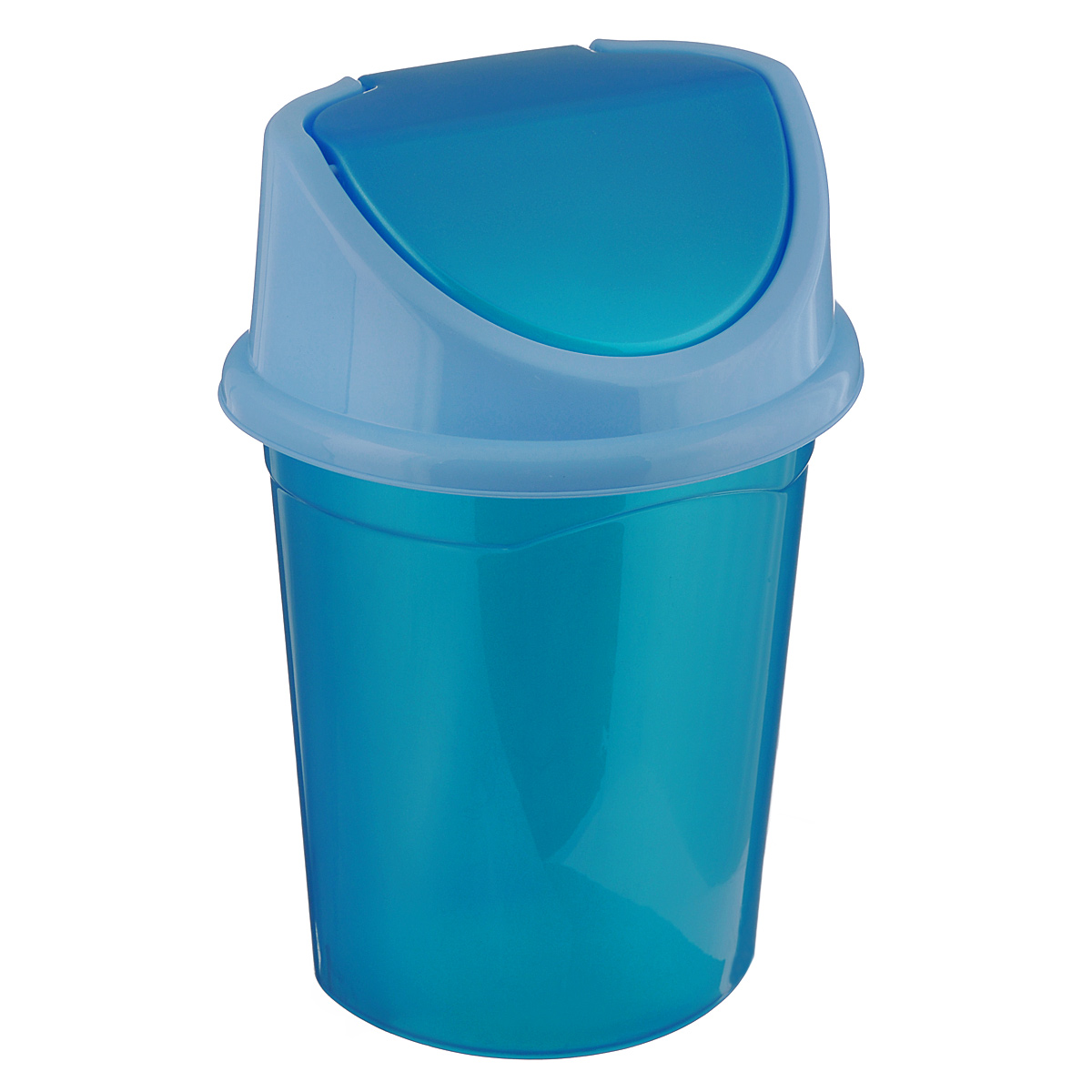 """Контейнер для мусора """"Violet"""", цвет: бирюзовый, голубой, 14 л"""