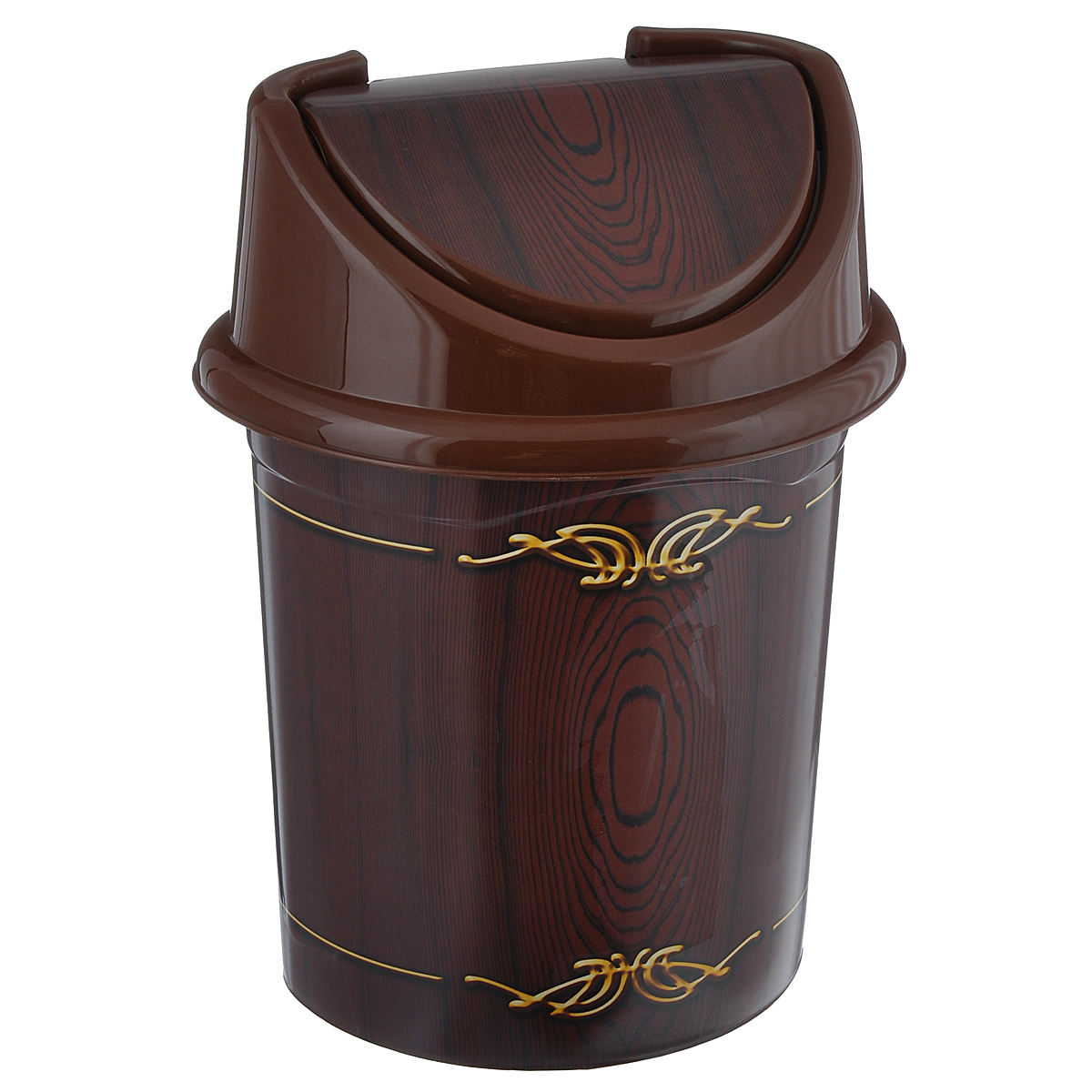 Контейнер для мусора Violet Дерево, цвет: коричневый, желтый, 14 л810400Контейнер для мусора Violet Дерево изготовлен из прочного пластика.Такой аксессуар очень удобен в использовании как дома, так и в офисе.Контейнер снабжен удобной съемной крышкой с подвижной перегородкой.Стильный дизайн сделает его прекрасным украшением интерьера.Размер изделия: 29 см х 31,5 см х 45 см.