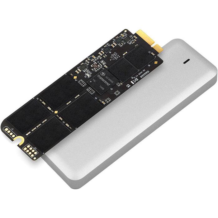 Transcend JetDrive 725 240GB SSD-накопитель для MacBook Pro (Retina) 15TS240GJDM725Твердотельный накопитель Transcend JetDrive 725 можно установить на компьютеры MacBook Pro (Retina), что позволит не только ускорить работу компьютера, но и расширить объем доступной дисковой памяти.Теперь не нужно бессмысленно перемещать файлы в тщетных попытках освободить немного свободного места на диске. В комплекты Transcend JetDrive входят твердотельные накопители объемом до 960 ГБ. Установив JetDrive в свой компьютер Mac, вы получаете столь необходимое дисковое пространство для хранения всей вашей музыки, видео и фотографий.JetDrive отличается надежностью и высокой скоростью передачи данных, которая значительно превосходит показатели стандартных твердотельных накопителей, установленных в Mac. Накопители этой серии обеспечат максимальную производительность более чем достаточную для выполнения большинства повседневных задач, таких как просмотр веб-сайтов, игры или работа с несколькими приложениями одновременно.В комплект Transcend JetDrive входит стильный алюминиевый внешний корпус с интерфейсом USB 3.0, в который можно установить извлеченный из компьютера оригинальный твердотельный накопитель. После этого его можно будет продолжать использовать как внешний накопитель для резервного копирования с помощью утилиты Time Machine, для хранения библиотек Aperture или для любых иных целей.Программное обеспечение JetDrive Toolbox было специально разработано для твердотельных накопителей Transcend JetDrive и, благодаря использованию технологии S.M.A.R.T., позволяет отслеживать их текущее состояние. Кроме того, индикатор работоспособности позволяет отслеживать уровень износа вашего твердотельного накопителя.Подходит для: MacBook Pro (Retina) 15 (Mid 2012, Early 2013)