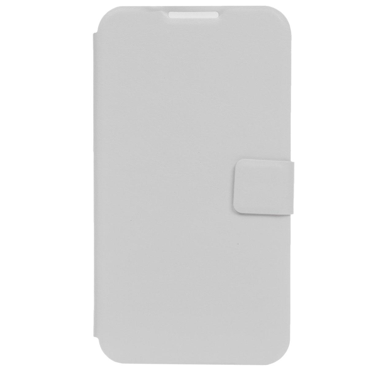 Ecostyle Shell универсальный чехол для телефонов с экраном 5.6-6, WhiteESH-B-UNI56-WHEcostyle Shell - универсальный чехол-книжка, который надежно защитит ваш телефон от механических повреждений, грязи и пыли. Конструкция чехла обеспечивает свободный доступ к разъемам, камере и основным функциям смартфона. Мягкая внутренняя поверхность защищает экран устройства от царапин.
