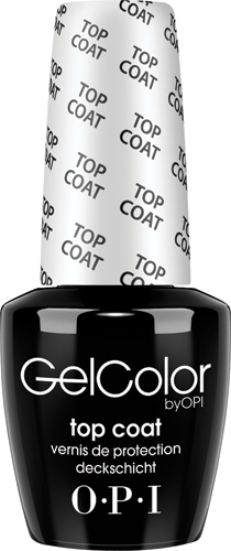 OPI Верхнее покрытие GelColor, 15 мл opi лак для ногтей suzi the first lady of nails washington dc 15мл