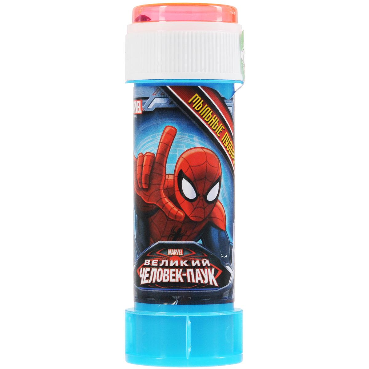 Веселая затея Мыльные пузыри Marvel. Человек-Паук, 60 мл мыльные пузыри формула 1 60 мл