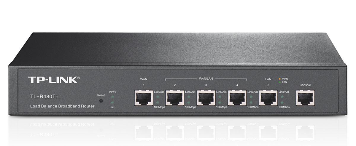 TP-Link TL-R480T+ маршрутизаторTL-R480T+TP-Link TL-R480T+ - устройство, разработанное специально для малого бизнеса. Проводной маршрутизатороснащен тремя взаимозаменяемыми портами, которые могут использоваться в качестве портов LAN или WAN взависимости от требований, выдвигаемых к вашему подключению к Интернету. В то же время, поддержкафункций управления потоком данных гарантирует качественную и надежную передачу информации. TL-R480T+обеспечит Вам высокопродуктивную современную сеть и надежное Ethernet соединение.«Умная» балансировка нагрузкиВстроенная стратегия автоматического разветвления каналов позволяет разделять потоки данных всоответствии с загруженностью и требуемой пропускной способностью, таким образом, увеличивая скоростьпередачи по каждому из каналов. Более того, теперь вы сами можете управлять пропускной способностьюWAN, устанавливая соответствующий процент. Данная функция балансировки очень удобна в использовании.Поддержка функции QoS для каждого IP-адреса и портаTL-R480T+ поддерживает функцию QoS для каждого IP-адреса и порта, что позволяет Вам передаватьмультимедиа-файлы, осуществлять телеконференции и играть по сети без сбоев и на высокой скорости.Привязка IP и MAC адресов эффективно защищает вашу сеть от внешних атакПривязка IP и MAC адресов позволяет защитить Вашу сеть от внешних атак - данная функция обеспечиваетдоступ к сети только тем компьютерам, которые прошли проверку на использование правильных IP и MACадресов, и тем самым минимизирует возможность внешних атак.Онлайн определение и тестирование интерфейса WANДанная функция предназначена для проверки соединения путем выявления PING/Tracert или запросов DNS исущественно облегчает работу администратору при проверке установленных правил на наличие ошибок инесоответствий.Безопасность Ваших вложенийУстройство выполнено в специальном корпусе с защитой от молний и позволяет избежать выбросов тока ивыполнить безвредную разрядку непосредственно через заземление. Маршрутизатор оснащен защитой отразрядо
