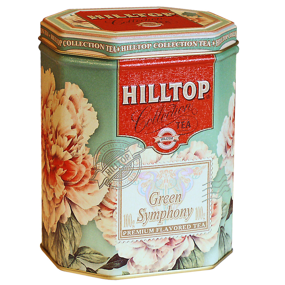 Hilltop Зеленая симфония зеленый листовой чай, 100 г зеленый чай hilltop чай hilltop collection зеленый чай с лимоном в ж б 100 гр