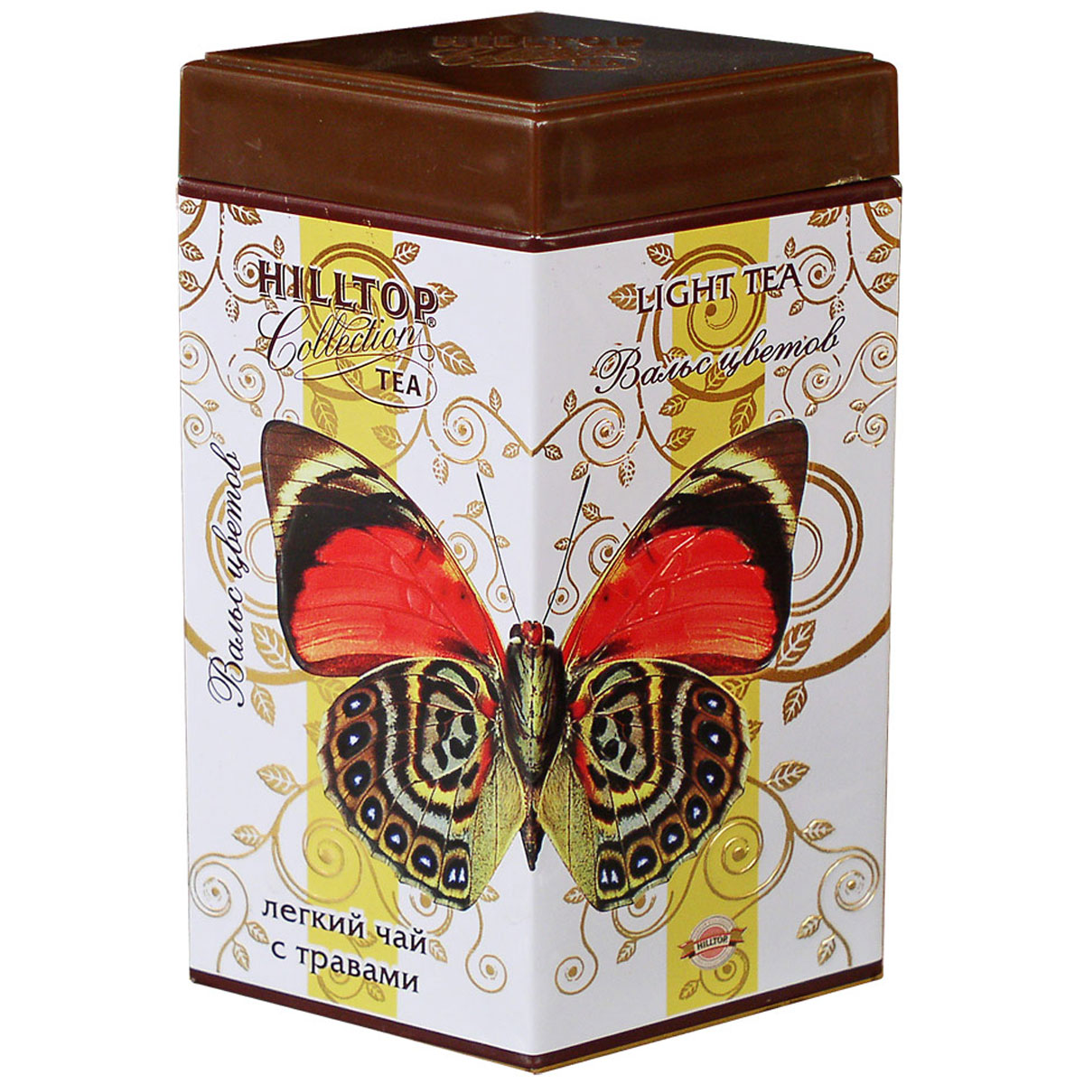 Hilltop Вальс цветов ароматизированный листовой чай, 100 г4607099301443Яркая и жизнерадостная смесь черного и зеленого чая Hilltop Вальс цветов с гибискусом, лепестками календулы, сафлора, василька, мальвы и чабреца.
