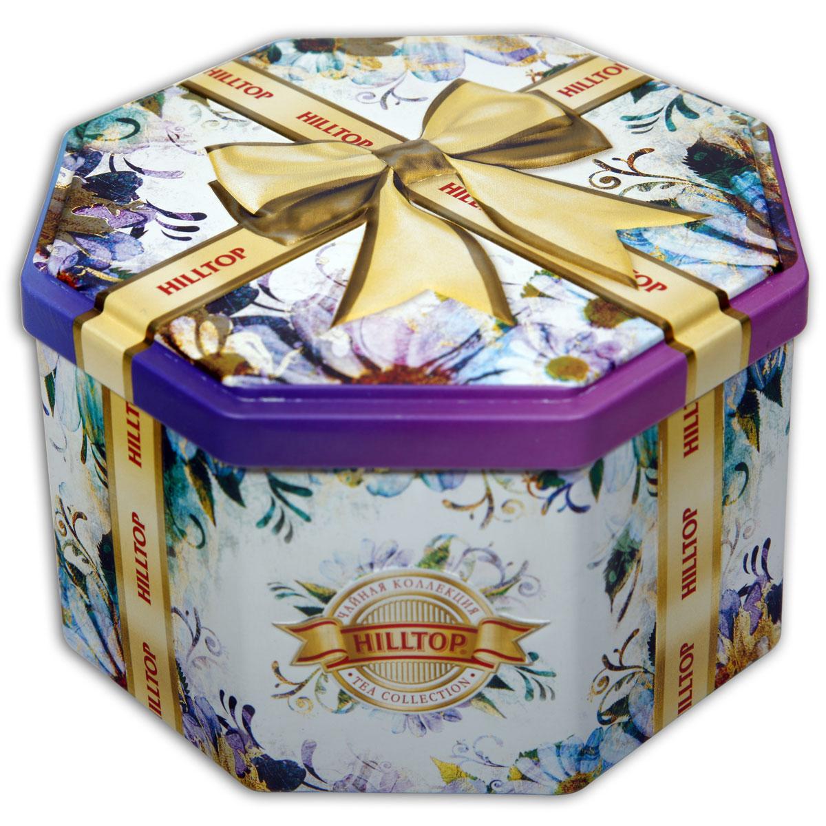 Hilltop Золотой бант ароматизированный листовой чай, 150 г4607099302532Крупнолистовой цейлонский черный чай Hilltop Золотой бант с листьями и тонизирующим ароматом чабреца