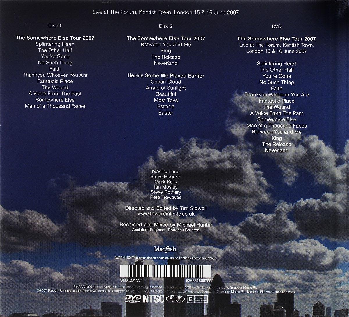 Marillion.  Somewhere In London (2 CD + DVD) Snapper Music