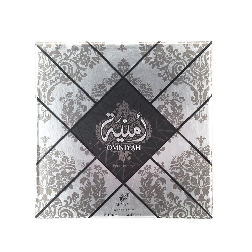 Afnan Omniyah Pour Homme Туалетные духи, Мужские, 100мл210562Обольстительный древесно-фужерный аромат для мужчин OMNIYAH POUR HOMME «Желание», Облачен в роскошный восточный флакон. Базовые ноты амбры, кедра, мускуса, подчеркнуты ароматом лаванды и лайма, что делает аромат притягательным , а обладателя аромата – желанным .Верхние ноты:лайм, лимонНоты «сердца»:кожа, лавандаБазовые ноты:белый кедр, амбра, мускус