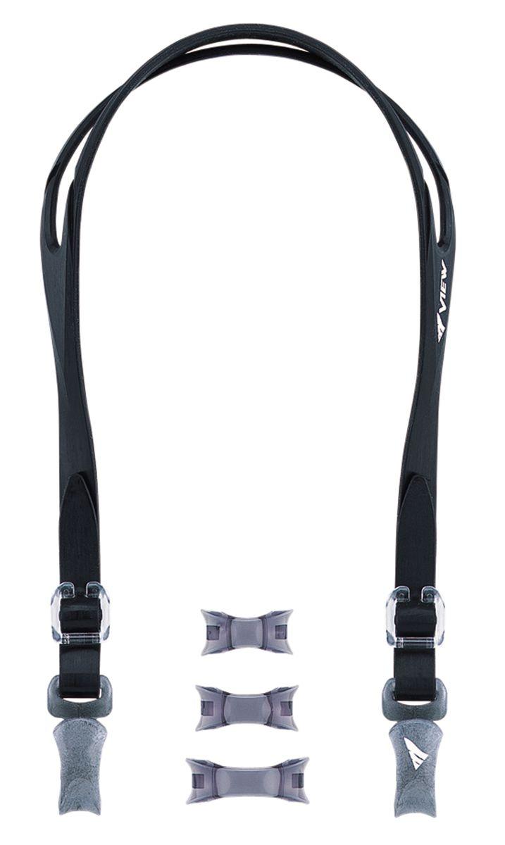 Набор для очков View Platina: ремешок, носовые перемычки, цвет: черный. VPS-500A BKTS VPS-500A BKКомплект View VPS-500A состоит из 5 частей и позволяет вам собрать свои собственные очки для плавания, используя носовые перемычки разных размеров и регулируемый ремешок. В комплект VPS-500A входят 3 носовые перемычки разных размеров, боковые зажимы и силиконовый ремешок. Комплект предназначен для использования с диоптрическими линзами VC-510A (необходимы 2 линзы) или как ремкомплект для замены деталей очков для плавания V-500 Platina. Комплект легко регулируется при помощи съемных боковых зажимов, которые легко и быстро разъединяются.