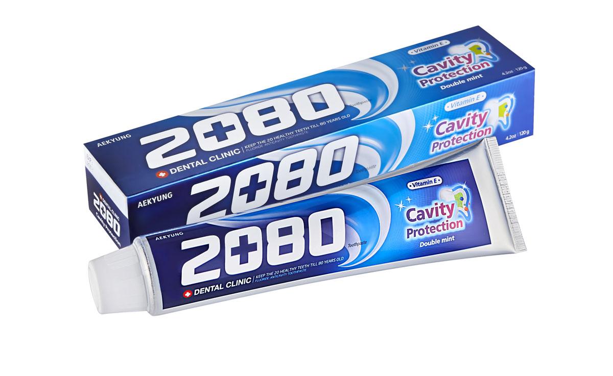 Зубная паста 2080 Натуральная мята, сильномятный вкус, 120 г846087Фторсодержащая зубная паста 2080 Натуральная мята с витамином Е освежает дыхание, защищает от кариеса и отбеливает. Характеристики:Вес: 120 г. Артикул: 6087. Товар сертифицирован.