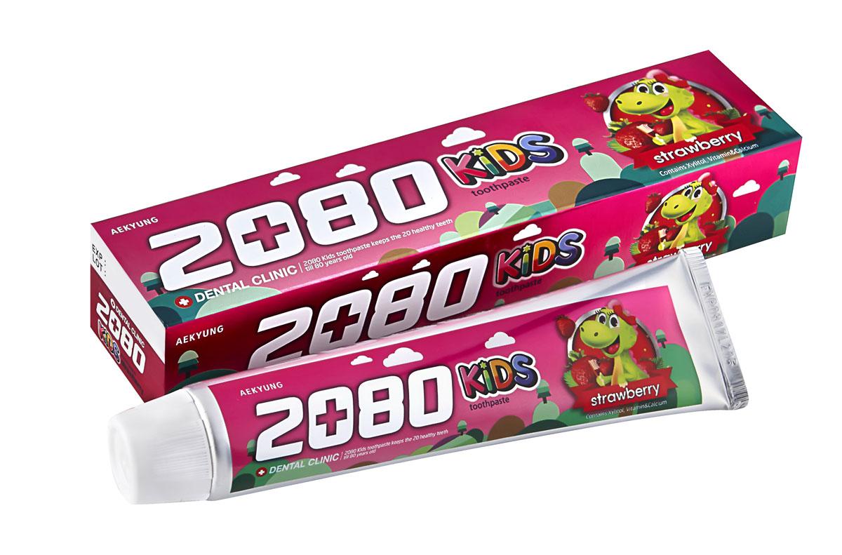 DC 2080 Зубная паста Детская клубника, 80 г886359Зубная паста содержит вещества специально подобранные для ухода за детскими зубами. Ксилит, натрия монофторфосфат и кальция глицерофосфат предотвращаютпоявление кариеса, способствуют укреплению и формированию зубов. Витамин Е сохраняет здоровье десен. Диоксида кремния - современный абразив, для бережного очищения и защитыэмали. Со вкусом клубники. Для детей от 2-х лет и старше. Характеристики:Вес: 80 г. Артикул: 886359. Производитель: Корея. Товар сертифицирован.