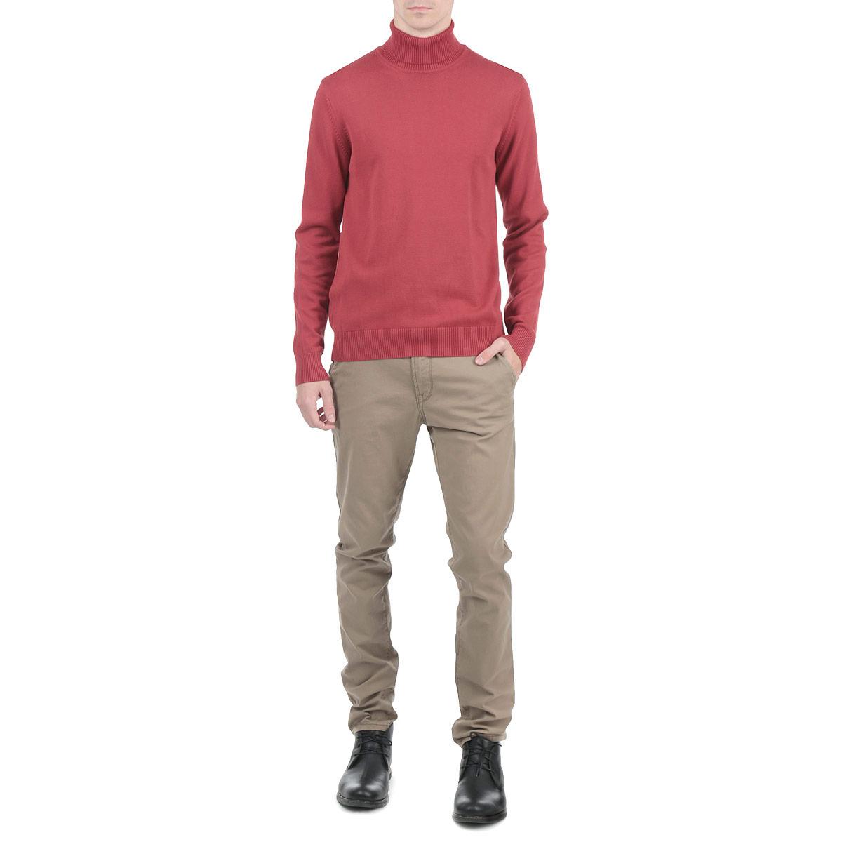 Водолазка мужская Dekato, цвет: красный. 412051-2 43. Размер XXL (54)