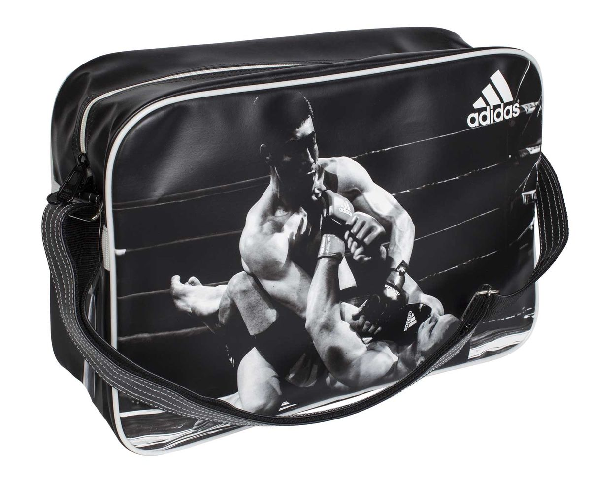 Сумка спортивная Adidas Sports Bag MMA, цвет: черный, белый. Размер L electric water heater tap instant hot water faucet heater cold heating faucet tankless instantaneous water heater kitchen