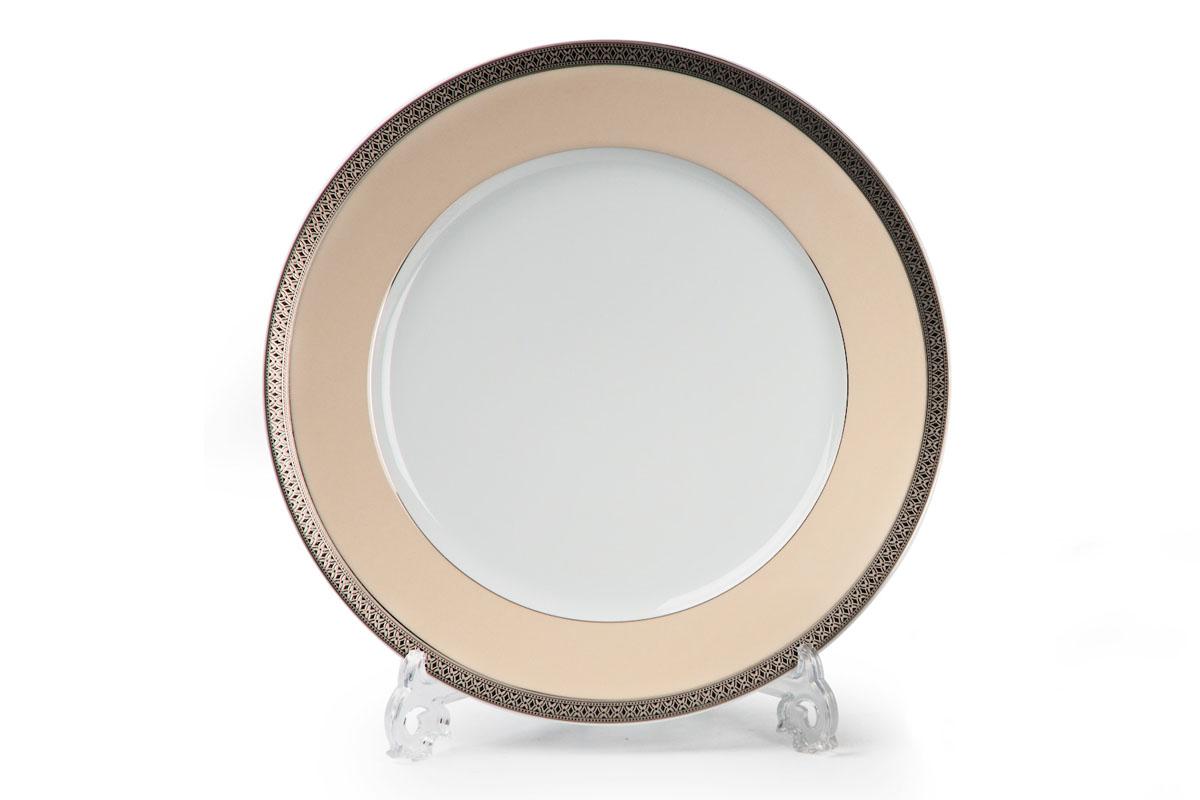 Tanite Victoir Platineatine 1489, набор тарелок 27 см (6шт), цвет: белый с платиной tanite victoir platineatine 1489 блюдо овальное 35 см цвет белый с платиной