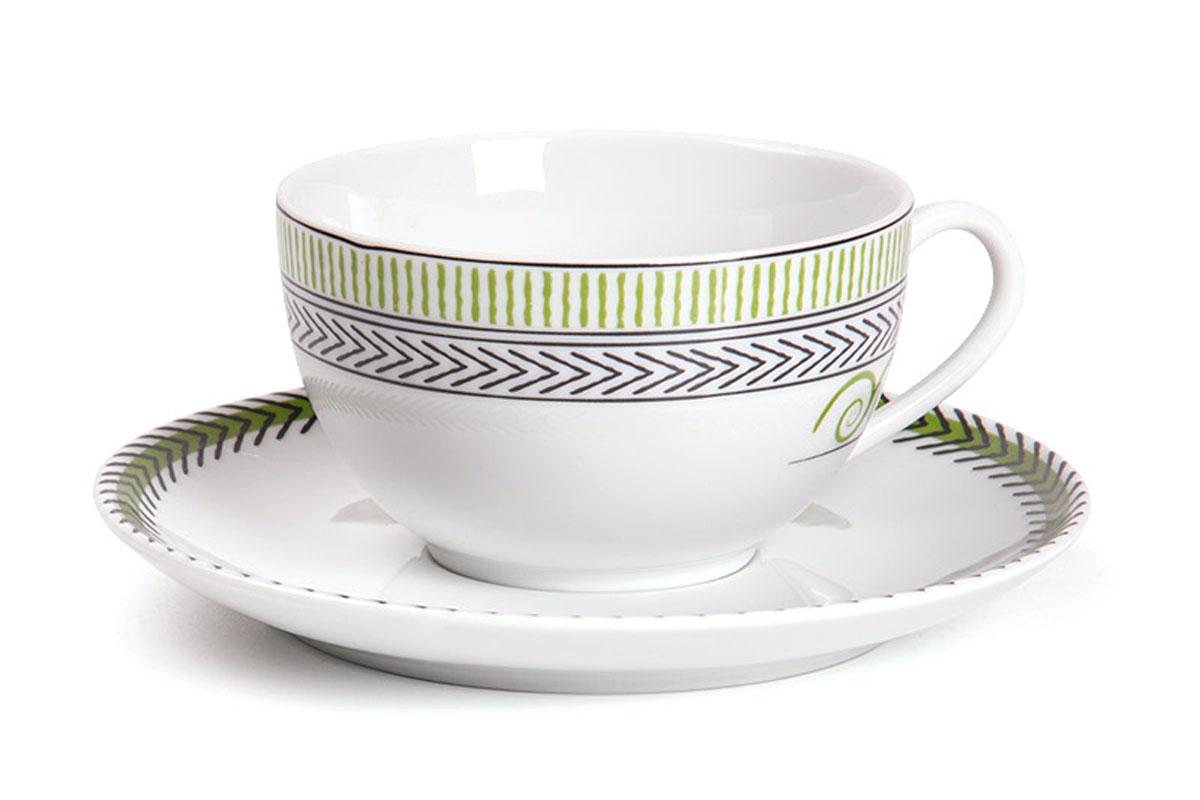 Monalisa 0994 набор чайных пар 210мг, 12пр, цвет: бело-зеленый с золотом619501 0994Чайная пара 210 мл * 6 штук/ 12 предметов Материал: фарфор: цвет: бело-зеленый с золотомСерия: MONALISA