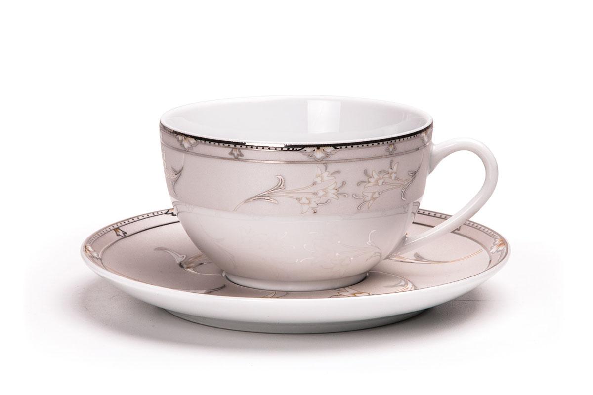 Isis 1558 набор чайных пар 200 мл /12 предметов, цвет: белый с платиной набор оснастки makita 200 предметов