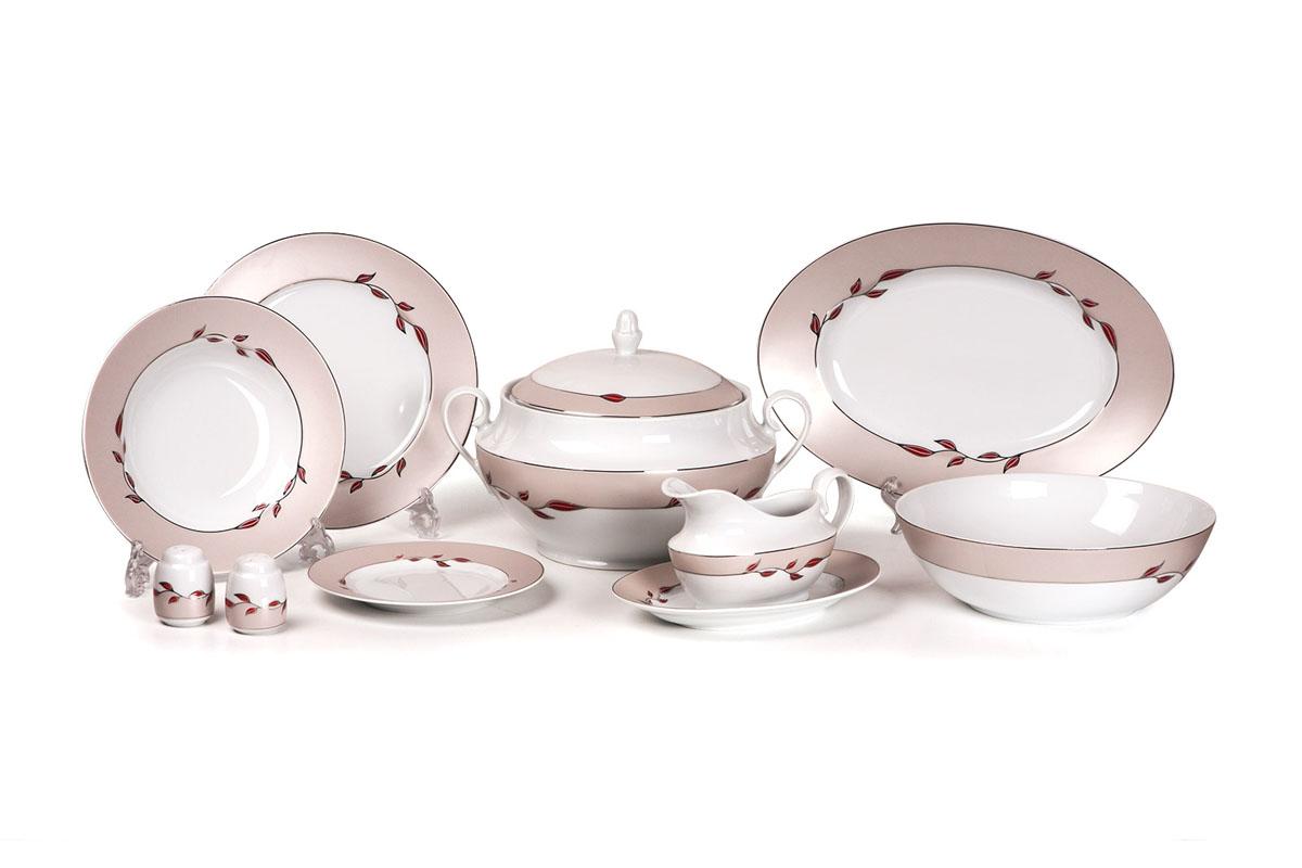 Сервиз столовый 25пр, цвет: белый с платиной и цветным рисунком659025 1570Супница 3,5 л , глубокая тарелка 22 см 6 штук , тарелка 25 см 6 штук , десертная тарелка 19 см 6 штук , солонка, перечница, Блюдо овальное 24 см, Блюдо овальное 35 см , салатник 25см, соусник 230мл. Элегантная посуда класса люкс теперь на вашем столе каждый день.Сделанные из высококачественного материала с использованием новейших технологий, предметы сервировки Tunisie Porcelaine невероятно прочны и прекрасно подходят для повседневного использования.Нельзя использовать в микроволновой печи. Можно мыть в посудомоечной машине в щадящем режиме при температуре 40-50°С. Материал: фарфор: цвет: белый с платиной и цветным рисункомСерия: TANIT