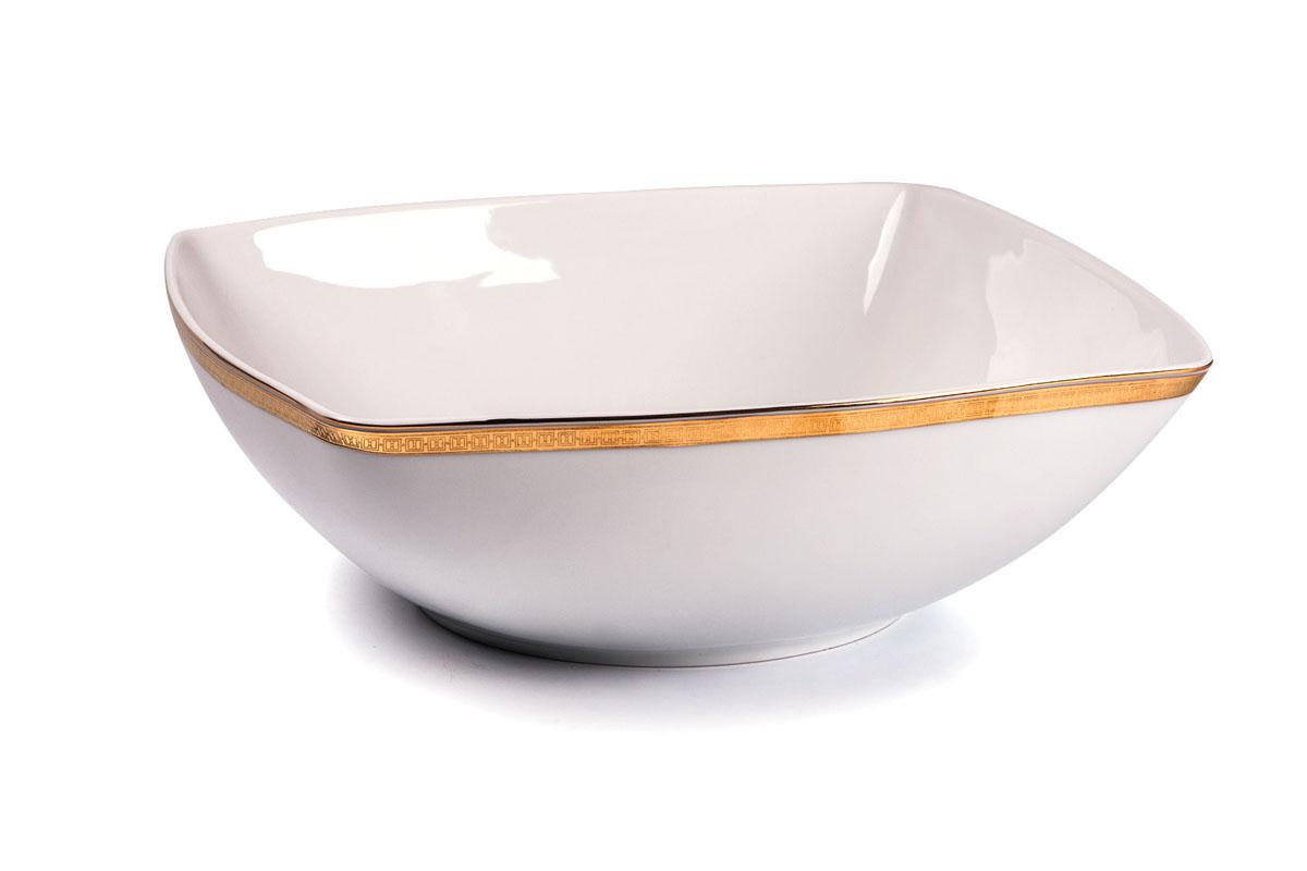 Kyoto 1555 салатник 25 см золото , цвет: белый с золотом714825 1555Салатник 25 см Материал: фарфор: цвет: белый с золотомСерия: KYOTO