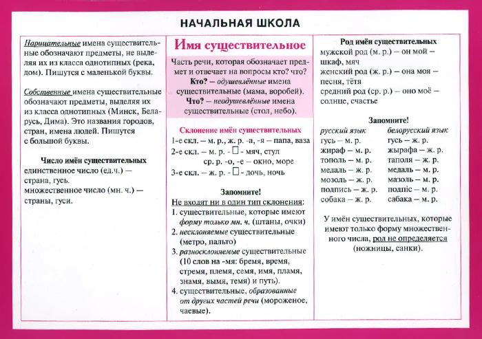 Начальная школа. Русский язык. Имя существительное здравствуйте имя существительное т рик