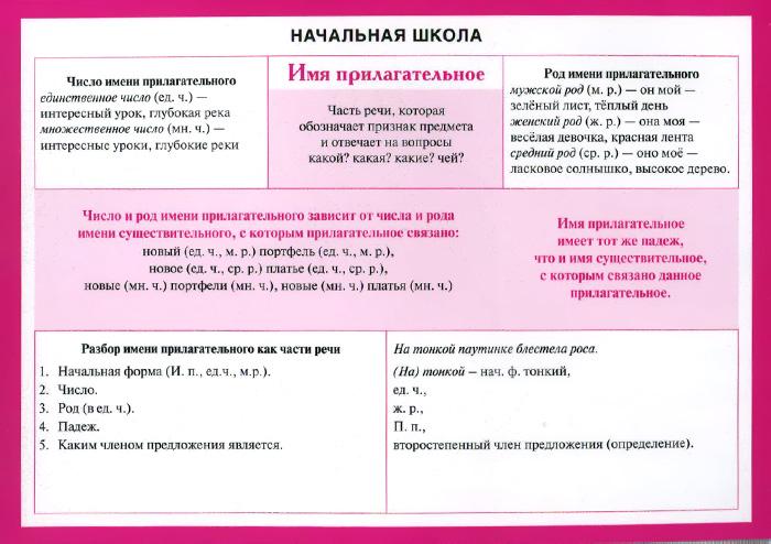 Начальная школа. Русский язык. Имя прилагательное татьяна рик доброе утро имя прилагательное