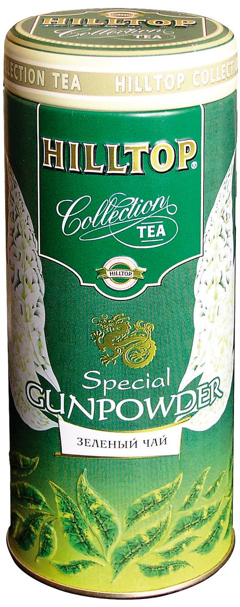Hilltop Special Gunpowder зеленый листовой чай, 100 г4607099300088Зеленый китайский крупнолистовой чай Hilltop Special Gunpowder. Насыщенное терпкое послевкусие.