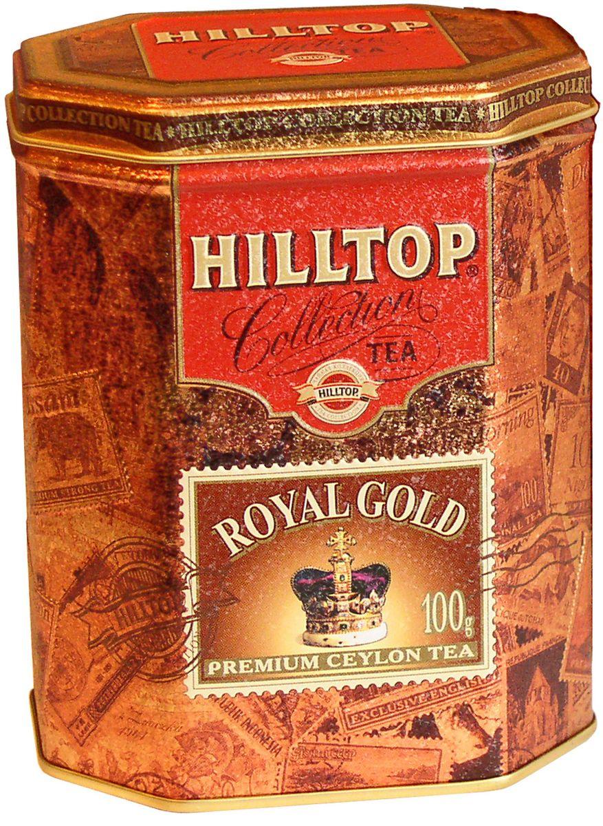 Hilltop Королевское золото черный листовой чай, 100 г4607099300293Крупнолистовой терпкий черный чай Hilltop Королевское золото стандарта Супер Пеко с лучших плантаций Цейлона.Всё о чае: сорта, факты, советы по выбору и употреблению. Статья OZON Гид