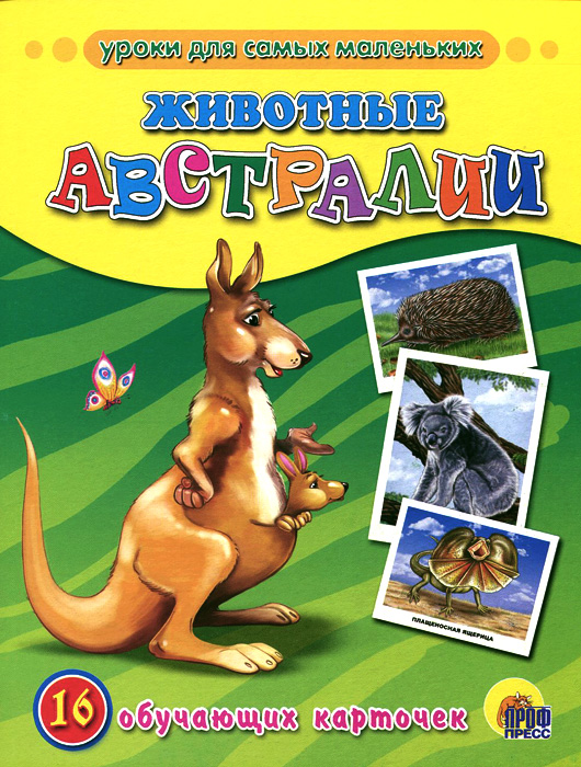 Животные Австралии (набор из 16 обучающих карточек) бытовая техника набор из 16 обучающих карточек