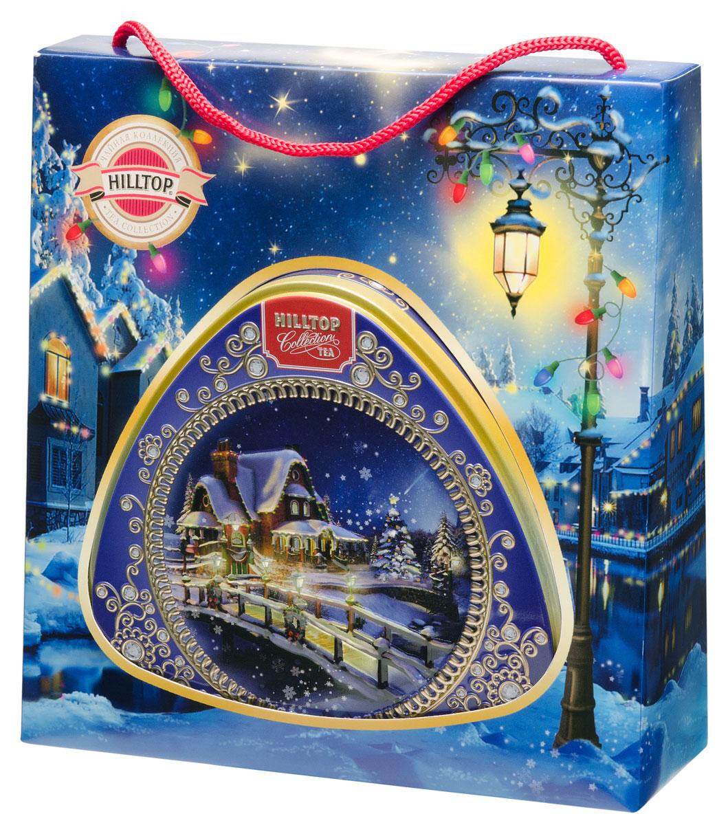 Hilltop Зимняя фантазия чайный набор4607099305960Крупнолистовой цейлонский черный чай Hilltop Зимняя фантазия в подарочной упаковке - прекрасный способ порадовать себя и своих близких в новогодние и рождественские праздники. Чай сароматом чабреца взбодрит и придаст сил на весь день. Красивая подарочная упаковка будет приятным дополнением незабываемому вкусу!