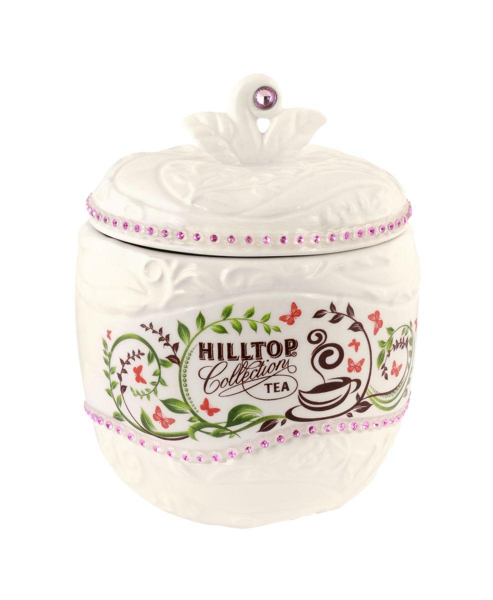 Hilltop Цейлонское утро черный листовой чай в чайнице Яблоко, 80 г