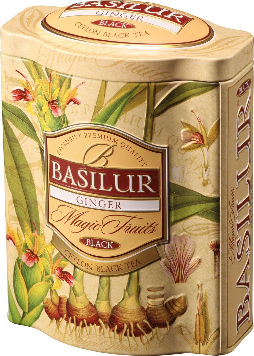 Basilur Ginger черный листовой чай, 100 г (жестяная банка)70432-00Чёрный цейлонский байховый листовой чай Basilur Имбирь с кусочками яблока и имбиря, лимонным сорго, лепестками васильков и ароматом имбиря подарит вам пряную свежесть на весь день. Красивая подарочная упаковка несомненно порадует истинных ценителей чая!Всё о чае: сорта, факты, советы по выбору и употреблению. Статья OZON Гид