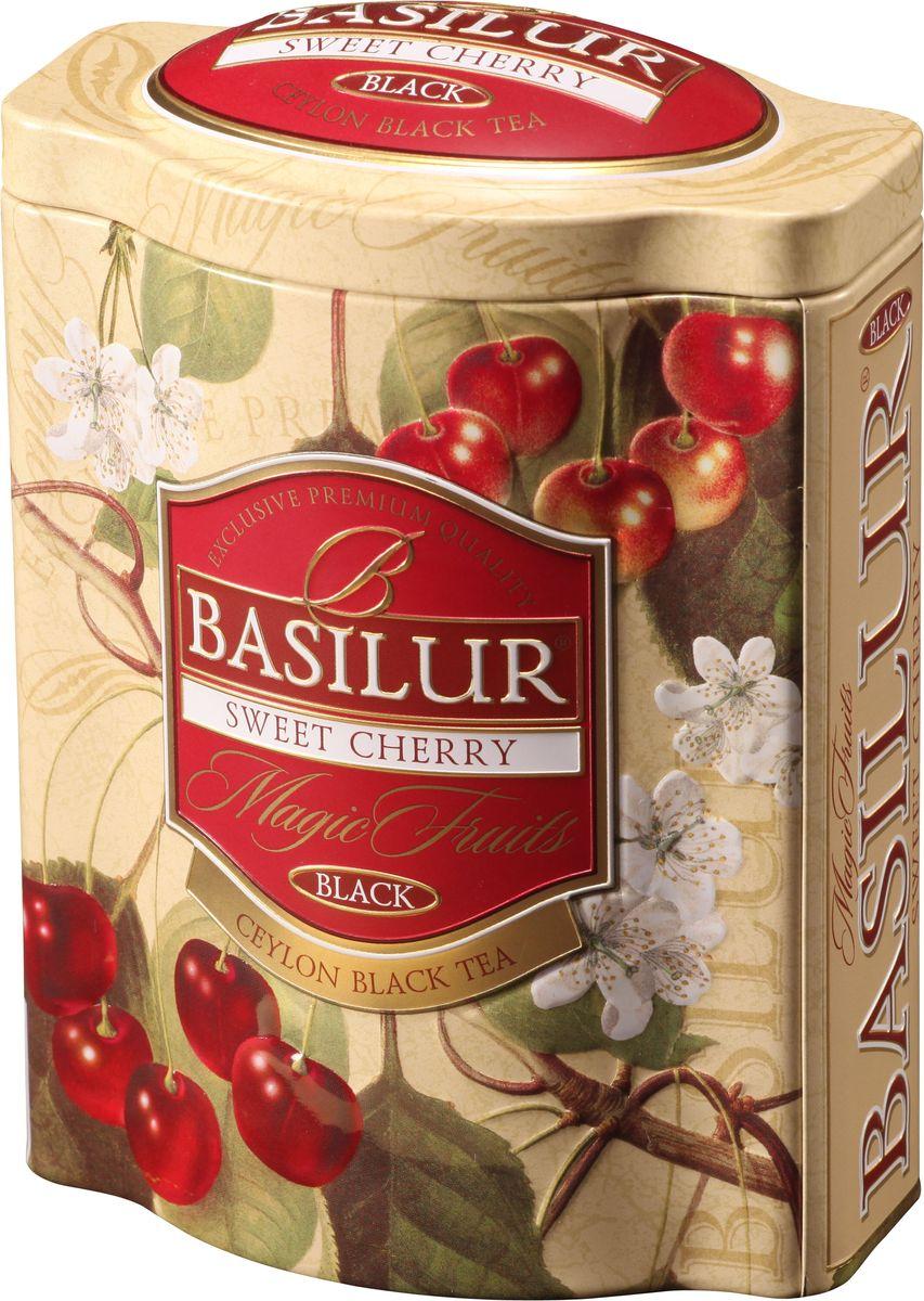 Basilur Sweet Cherry черный листовой чай, 100 г (жестяная банка) чайники и кофейники на кухню basilur