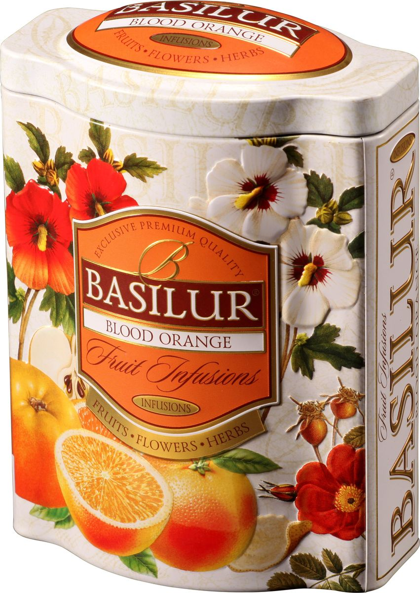 Basilur Blood Orange фруктовый листовой чай, 100 г (жестяная банка) гринфилд чай фруктовый