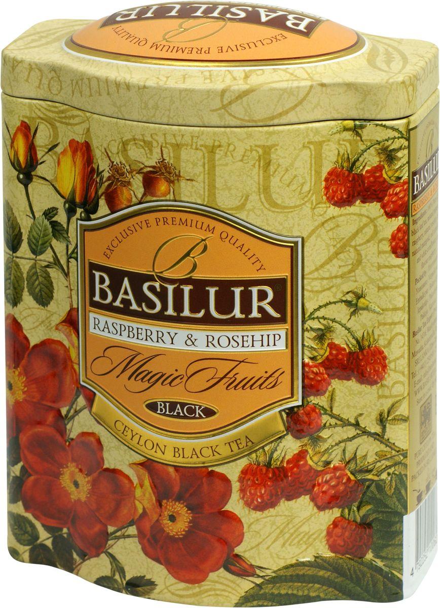 Basilur Raspberry & Rosehip черный листовой чай, 100 г (жестяная банка) slim fan shape powder concealor blending finishing highlighter highlighting makeup brush nail art brush for makeup