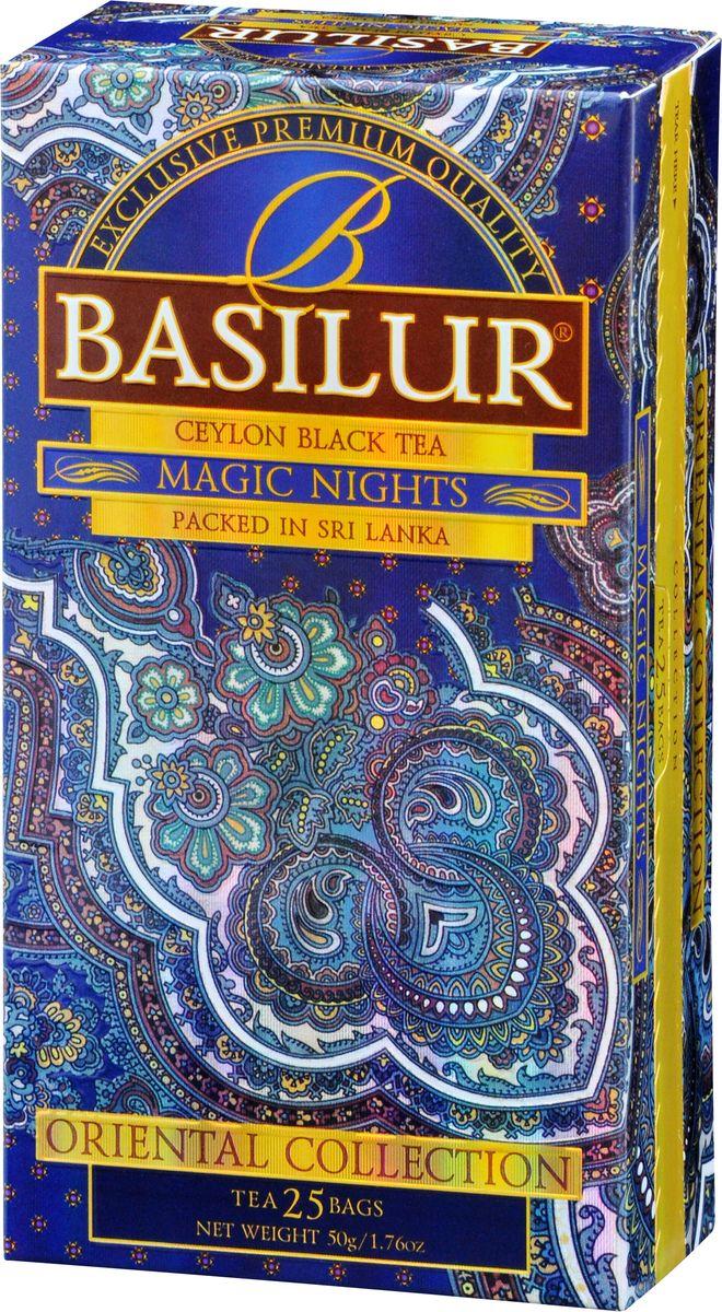 Basilur Magic Nights черный чай в пакетиках, 25 шт greenfield чай greenfield классик брекфаст листовой черный 100г