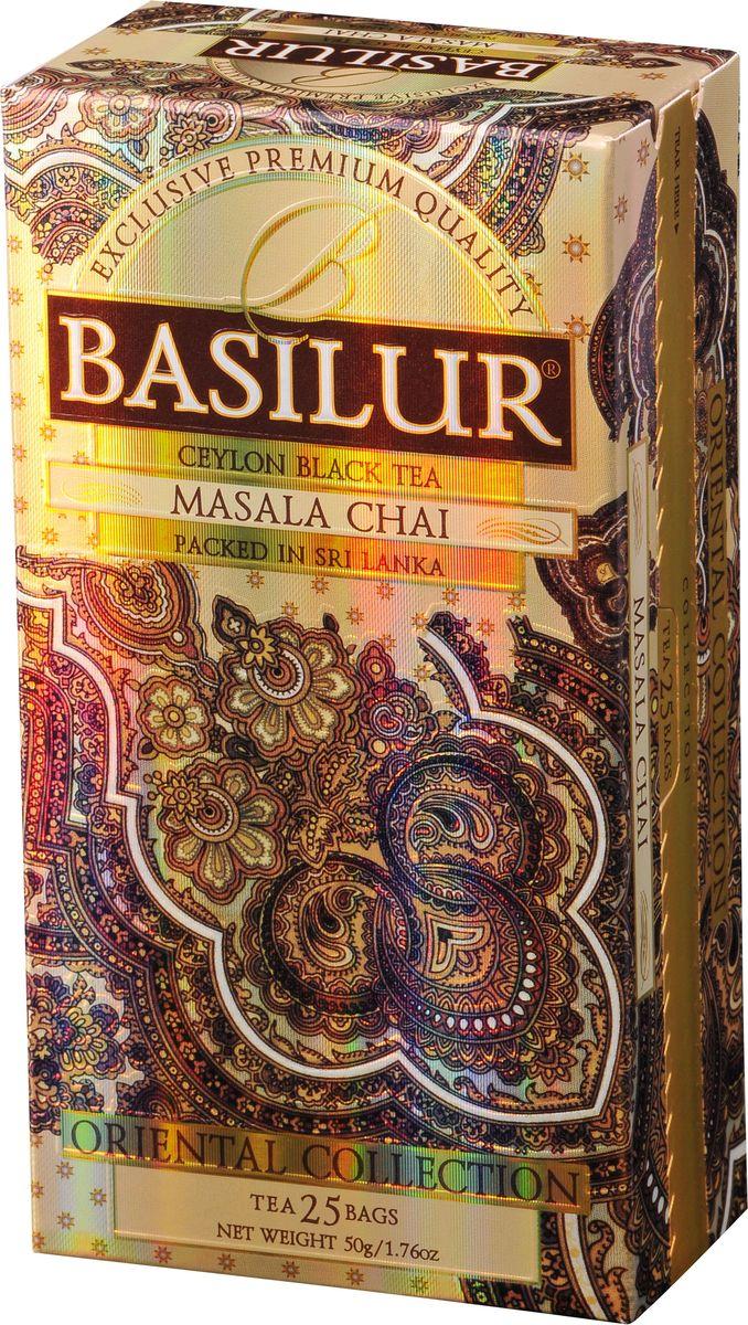 Basilur Masala Chai черный чай в пакетиках, 25 шт