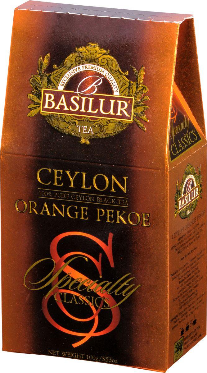 Basilur Ceylon Orange Pekoe черный листовой чай, 100 г basilur cream fantasy зеленый листовой чай 100 г жестяная банка