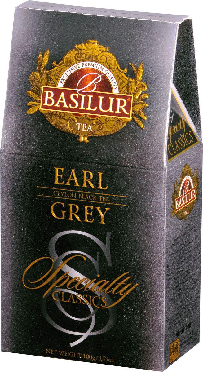 Basilur Earl Grey черный листовой чай, 100 г ahmad tea earl grey черный чай 100 г жестяная банка