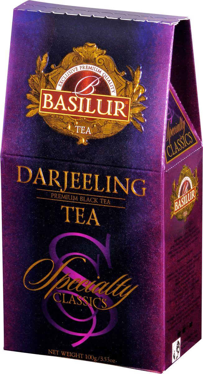 Basilur Darjeeling черный листовой чай, 100 г greenfield чай greenfield классик брекфаст листовой черный 100г