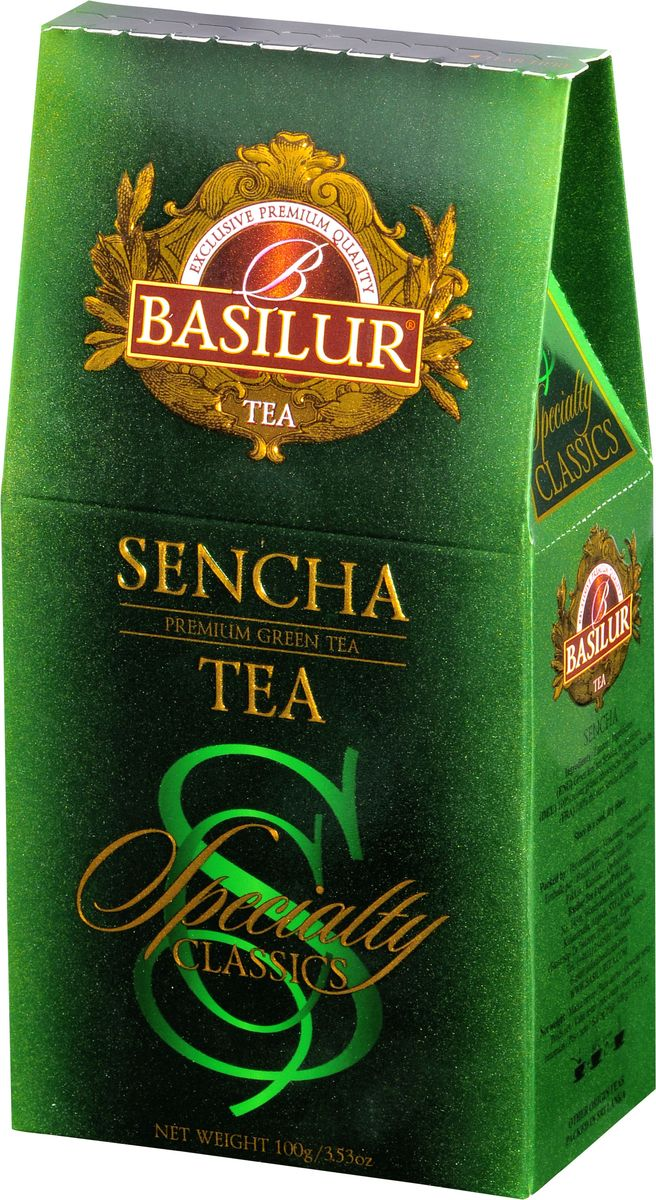 Basilur Sencha зеленый листовой чай, 100 г basilur cream fantasy зеленый листовой чай 100 г жестяная банка
