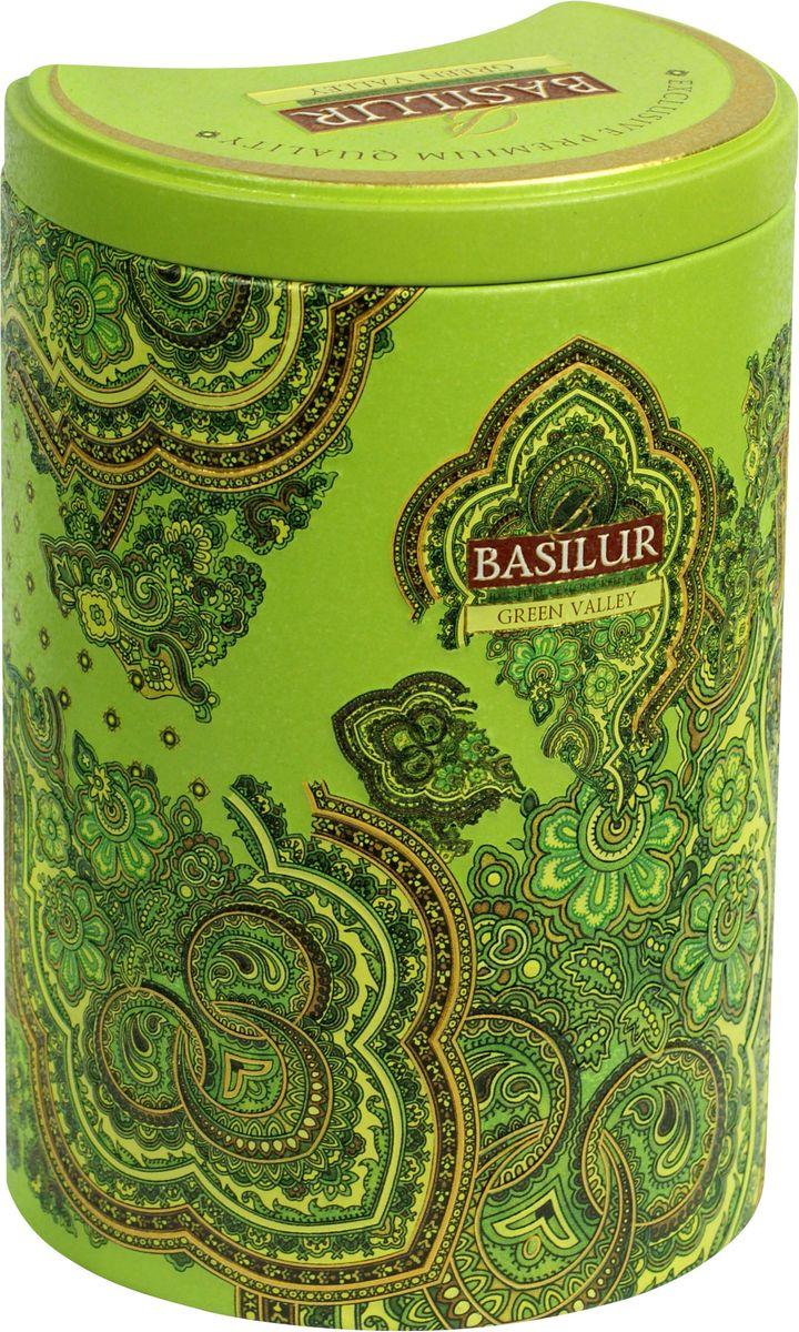 Basilur Green Valley зеленый листовой чай, 100 г (жестяная банка) basilur cream fantasy зеленый листовой чай 100 г жестяная банка