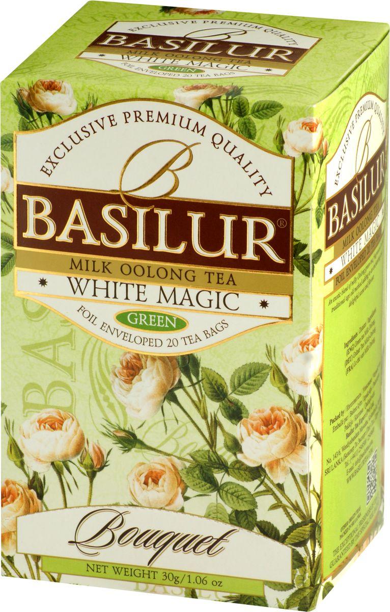 Basilur White Magic зеленый чай в пакетиках, 20 шт