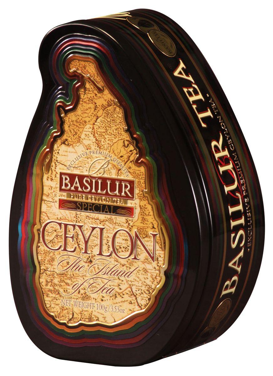 Basilur Special FBOP черный листовой чай, 100 г (жестяная банка) basilur folk rainbow черный листовой чай 100 г жестяная банка