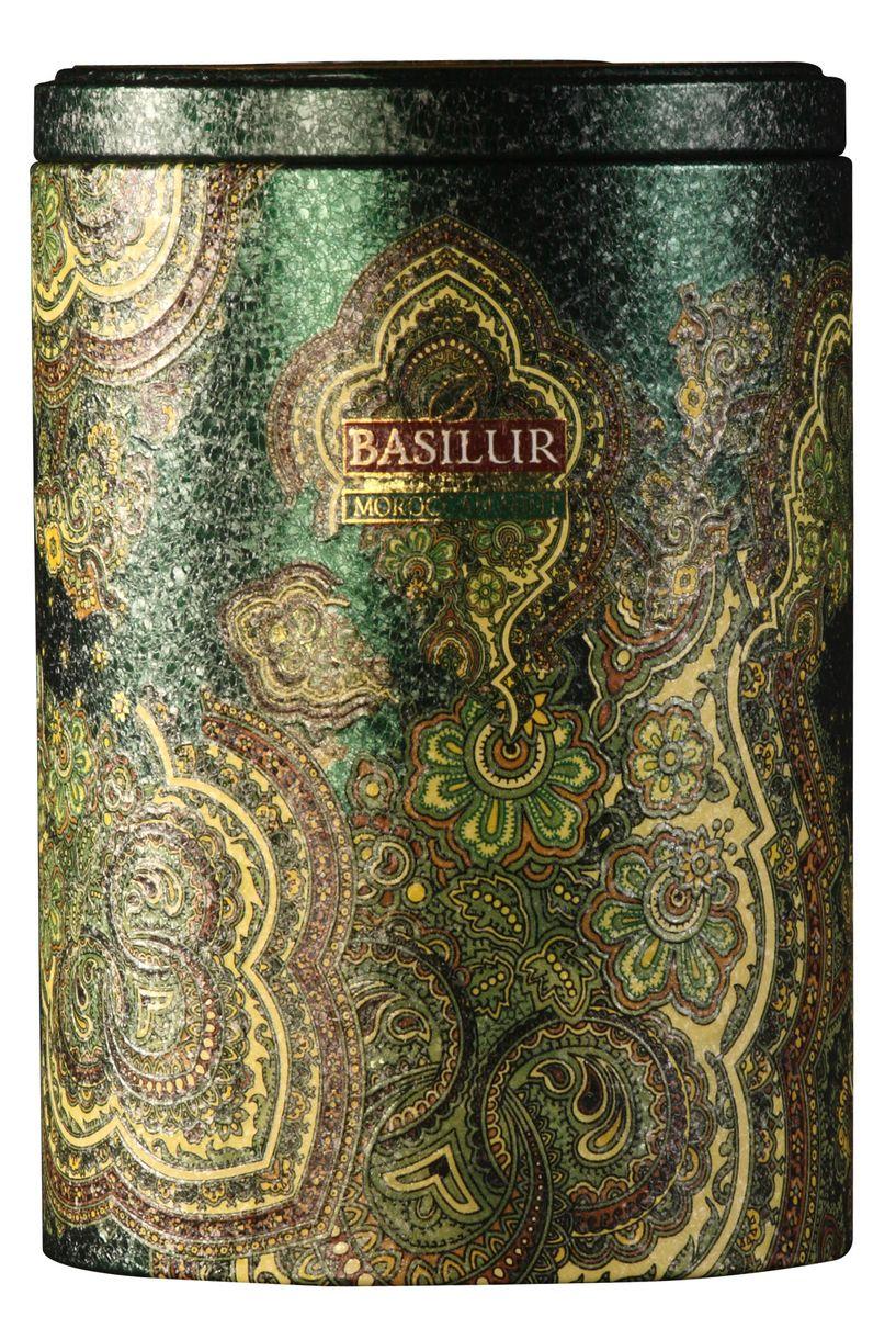 Basilur Moroccan Mint зеленый листовой чай, 100 г (жестяная банка) basilur folk rainbow черный листовой чай 100 г жестяная банка