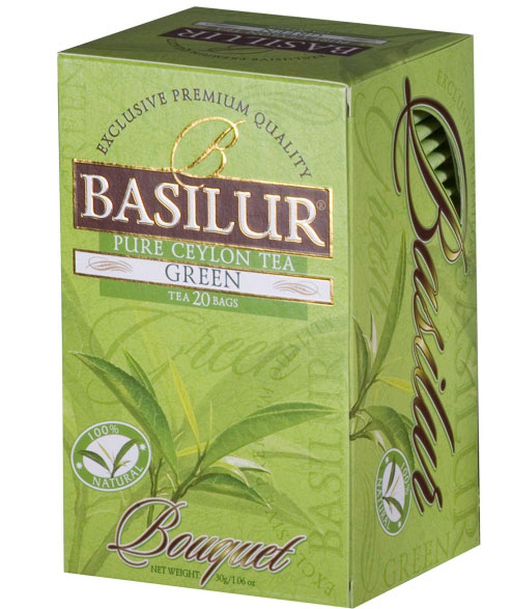 Basilur Pure Green Sencha зеленый чай в пакетиках, 20 шт basilur gold черный чай в пакетиках 25 шт